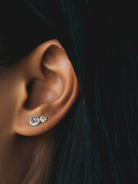 The Baby Rose Cut Studs