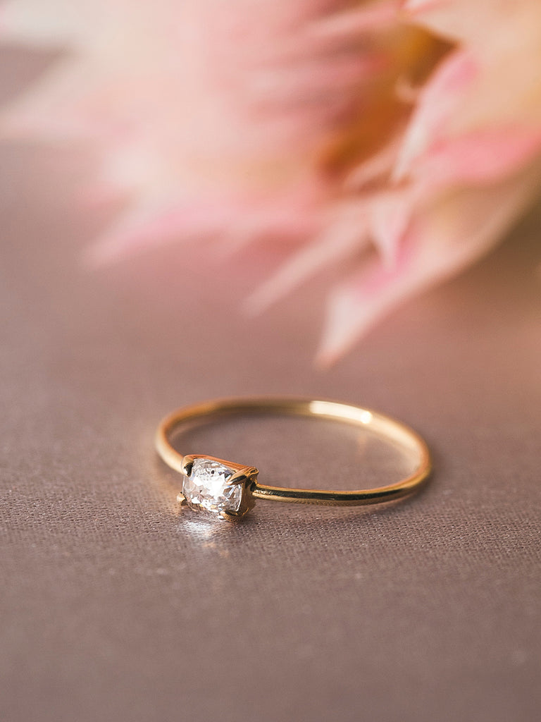 The Single Stone Ring- Oval Rose Cut – Après Jewelry