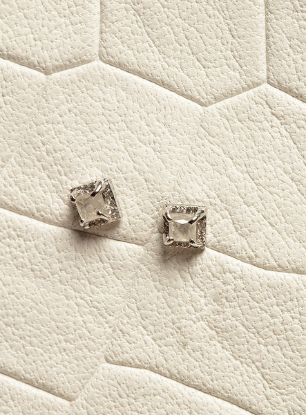 The Diamond Slice Studs- Small [SAMPLE SALE]