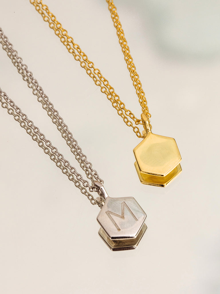 The Hex Disc Charm Necklace