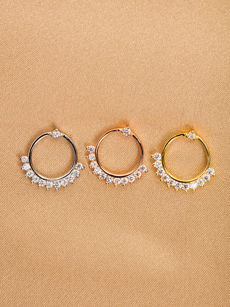 The Diamond Flare Hoops