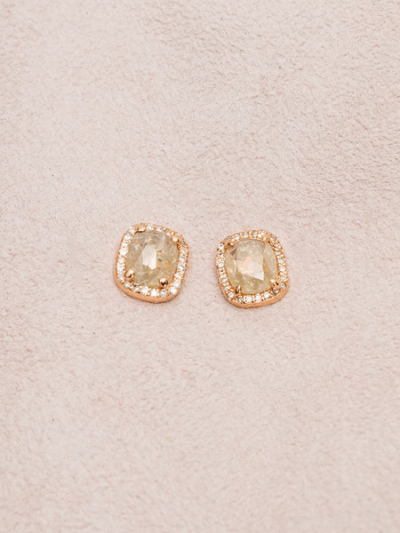 The Diamond Slice Studs- Large