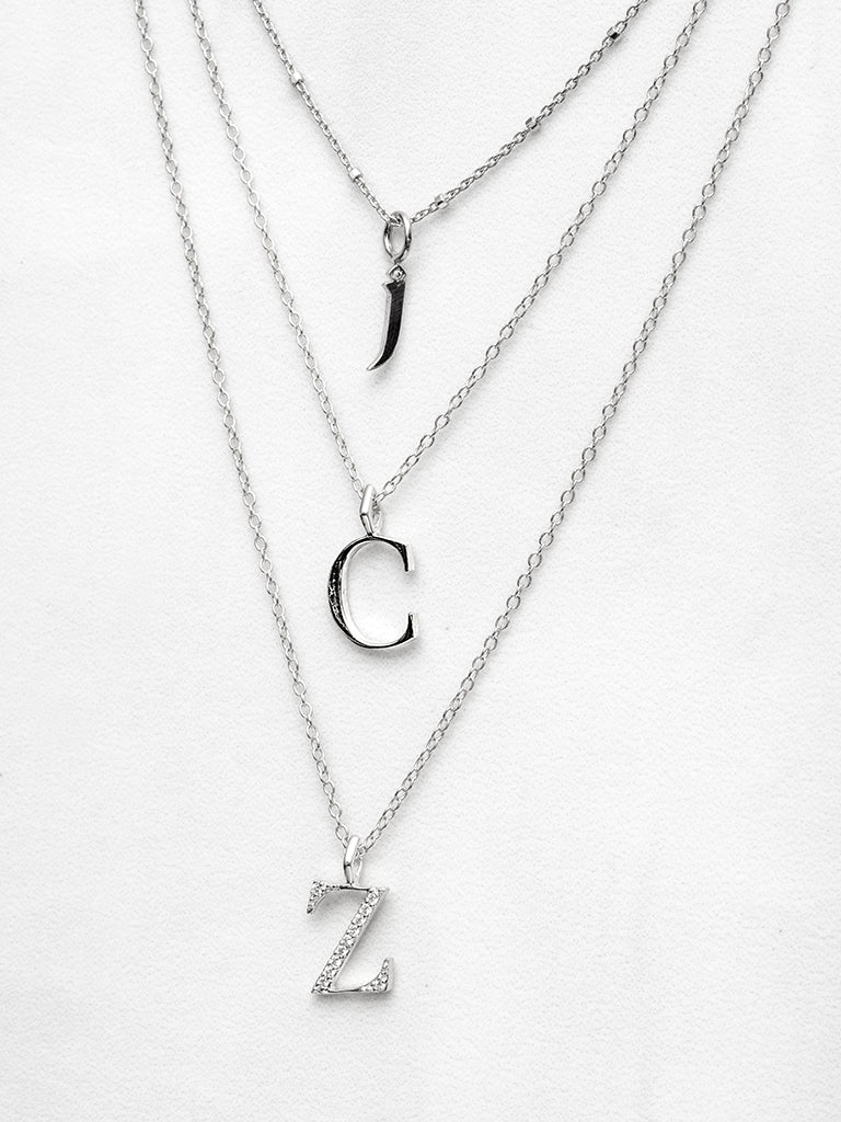 The Diamond Initial Charm Necklace
