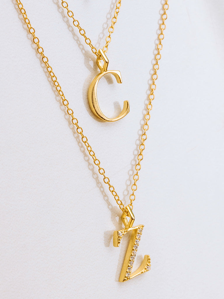 The Initial Charm Necklace
