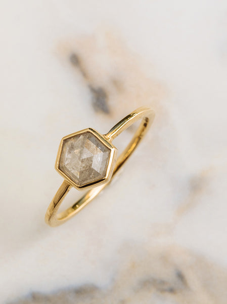 The Bezel Diamond Slice Ring