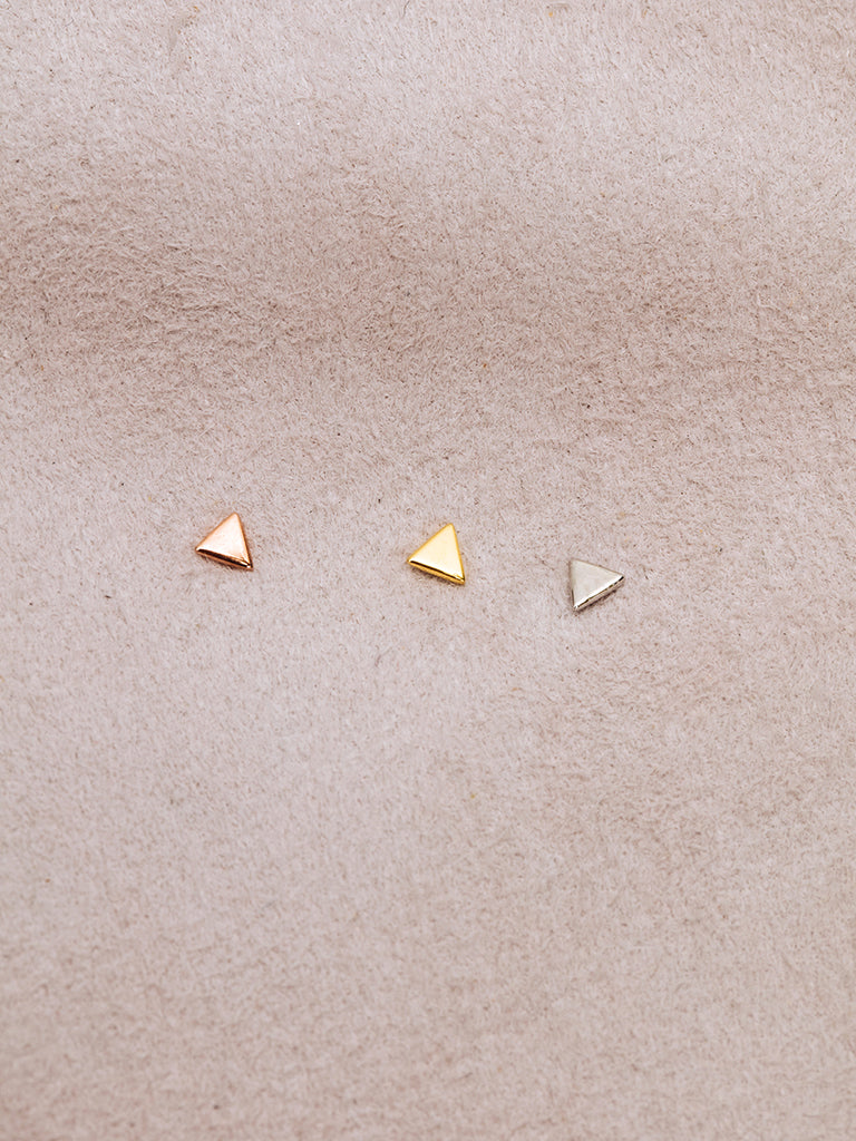 The Triangle Disc Studs