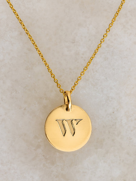 The Cut-Out Initial Pendant Necklace