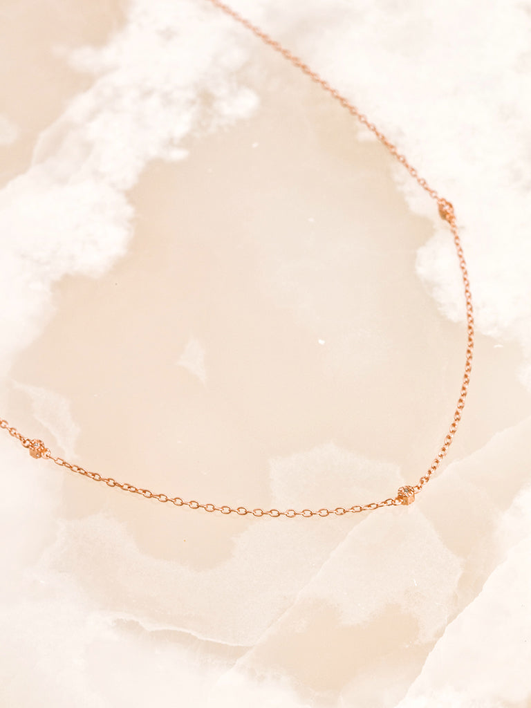 The Hex Diamond Station Necklace