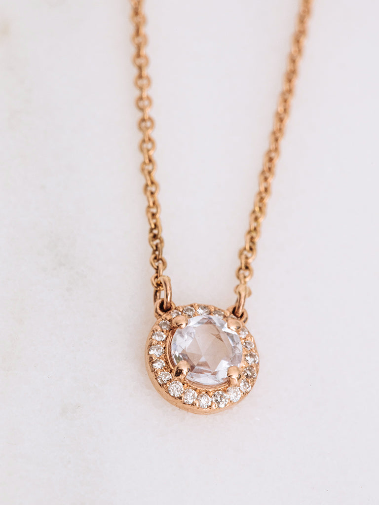 The Rose Cut Halo Necklace