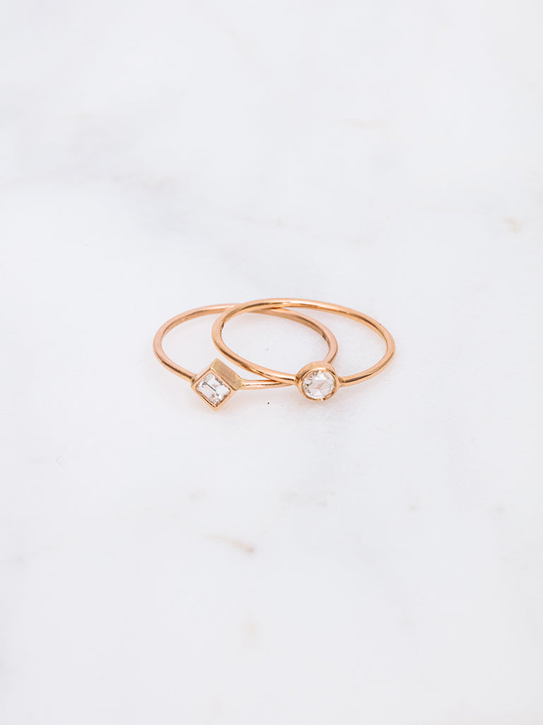 The Baby Rose Cut Round Ring