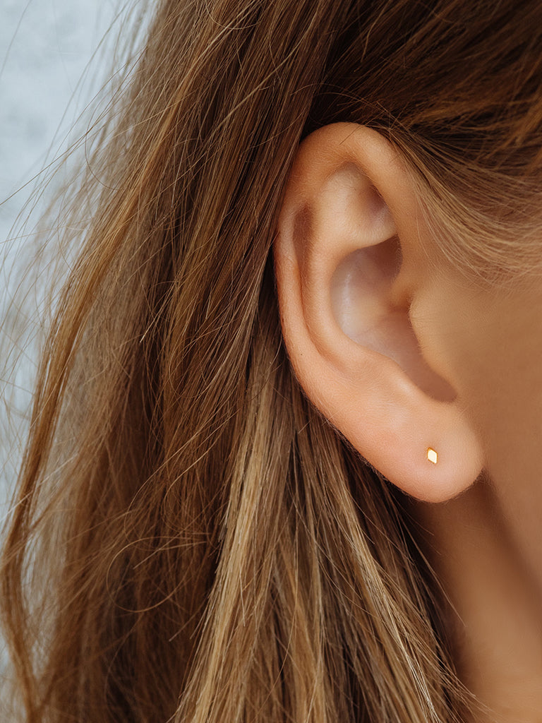 The Diamond Kite Disc Studs
