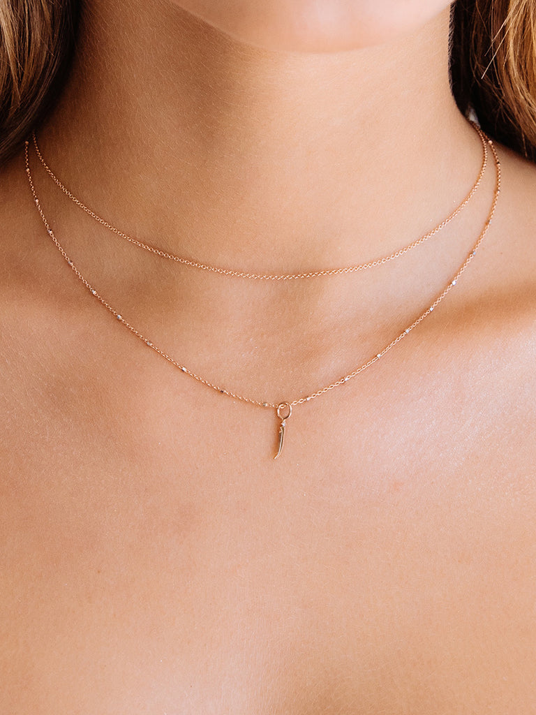 The Dotted Oval Link Necklace