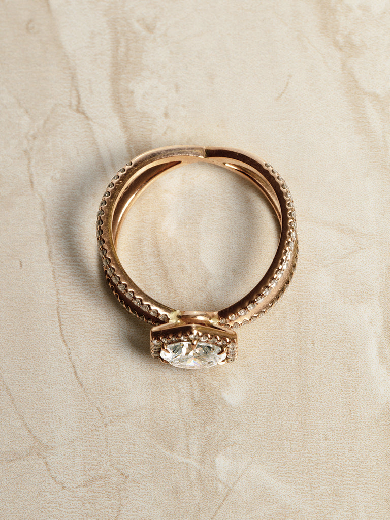 The Ophelia Ring X Band Setting
