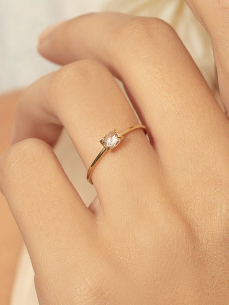 The Single Stone Ring- Oval Rose Cut [SAMPLE SALE]