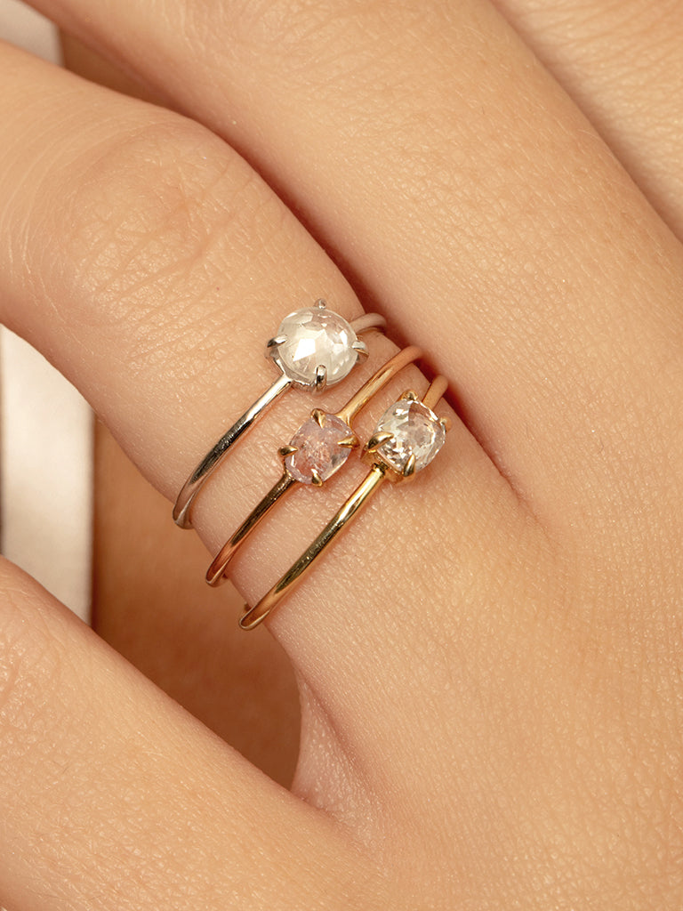 The Single Stone Ring- Oval Rose Cut