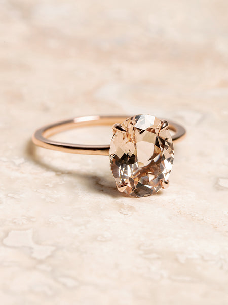 The Stella Ring Setting (Oval Morganite)