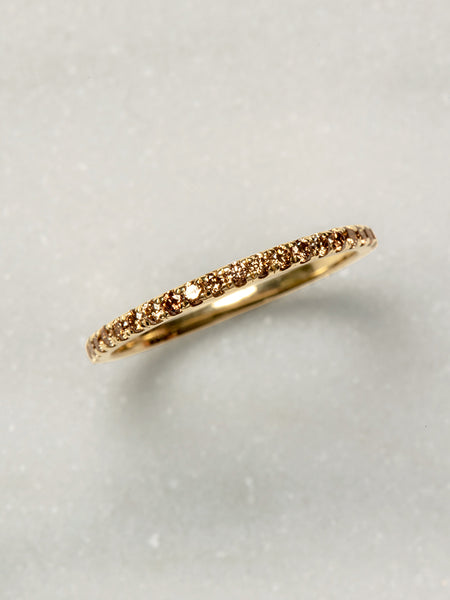 The Ombre Pavè Band with Champagne Diamonds