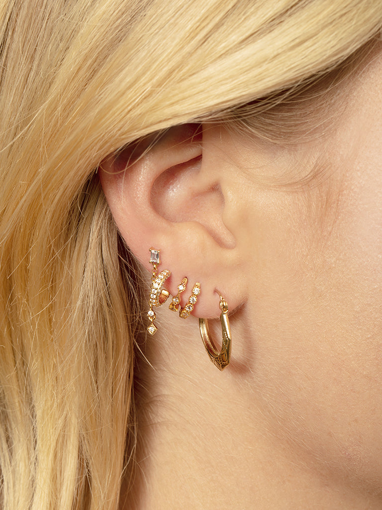 The Triple Pavè Hoops