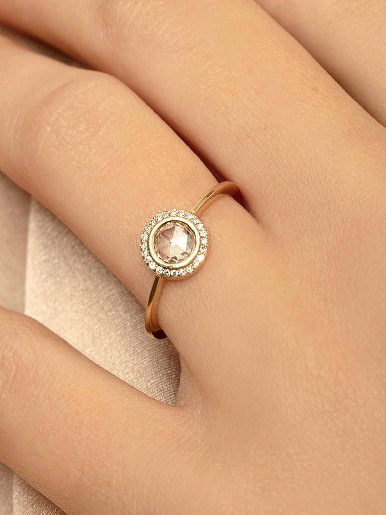The Rose Cut Halo Ring