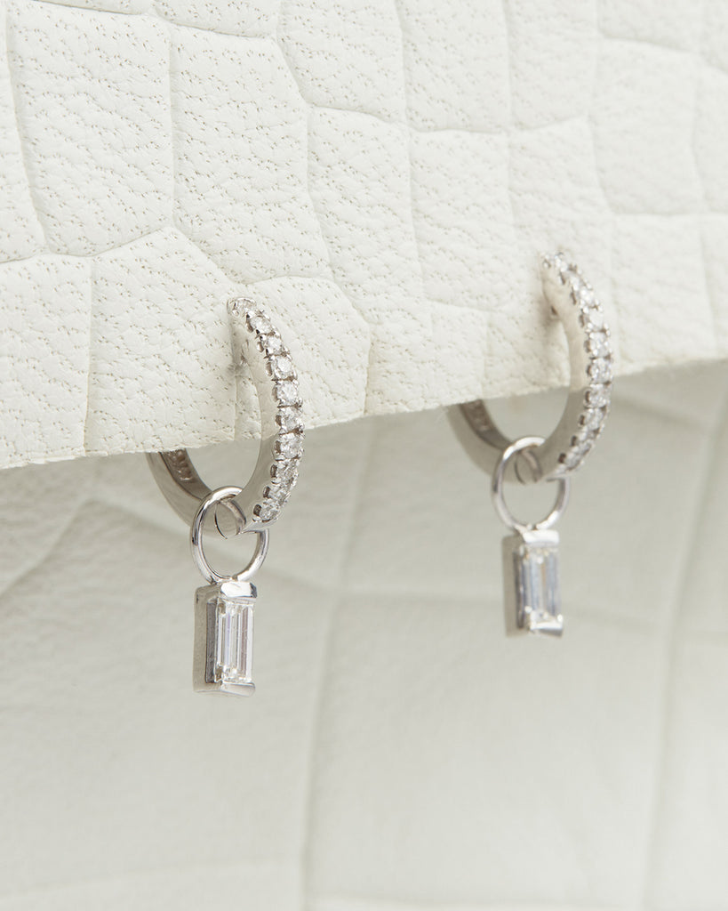 The Diamond Dangle Charms- Baguette