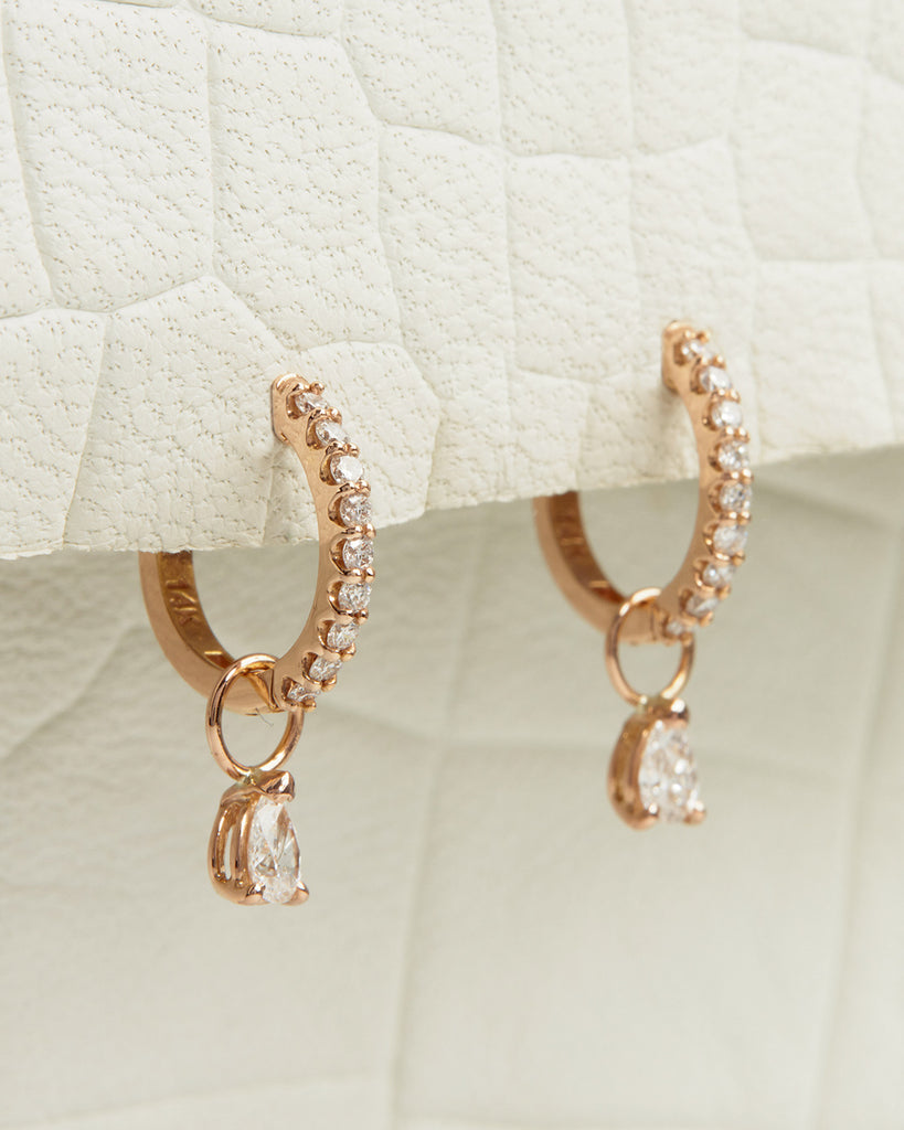 The Diamond Dangle Charms- Pear