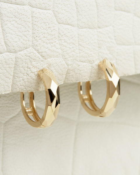 The Diamond Facet Hoops