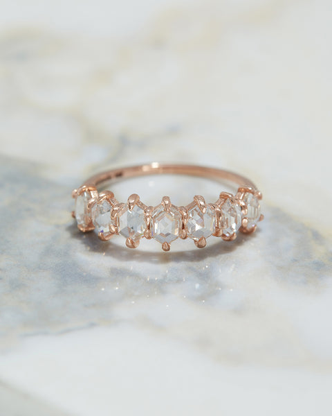 Geo Rose Cut Diamond Band [SAMPLE SALE]