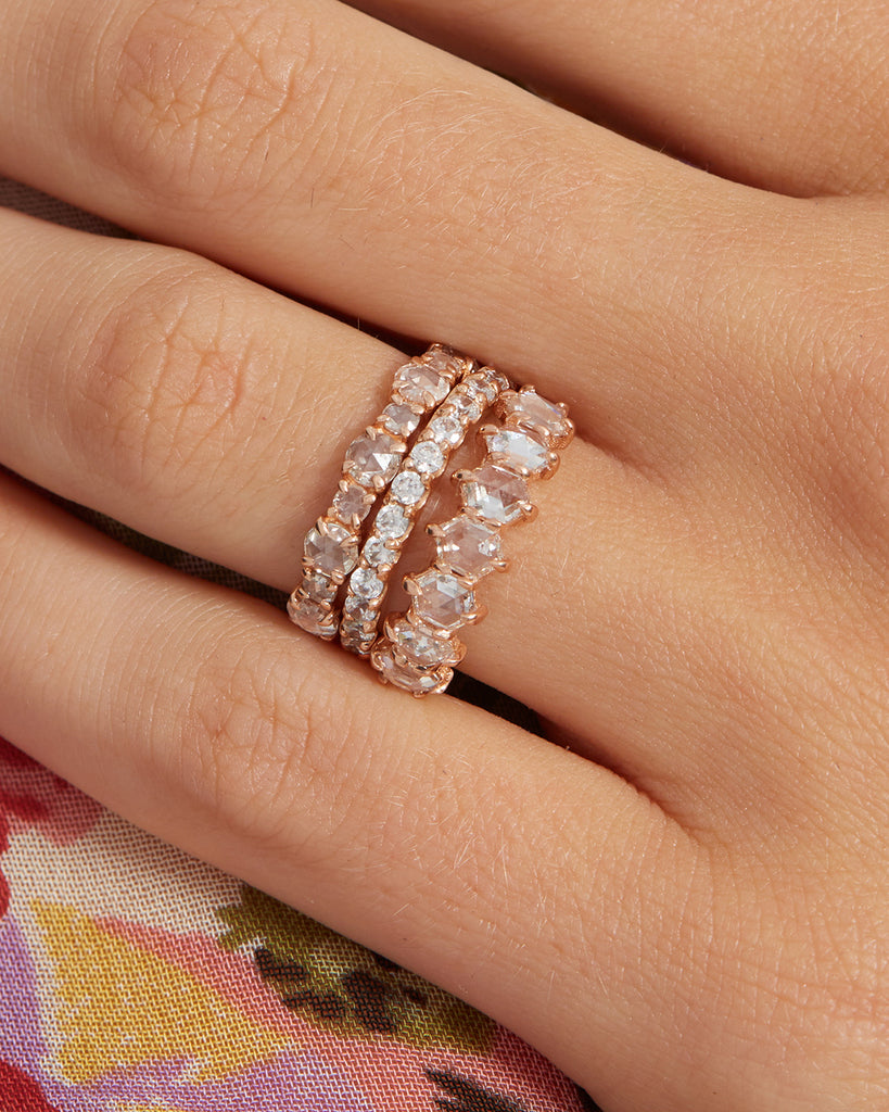Geo Rose Cut Diamond Band