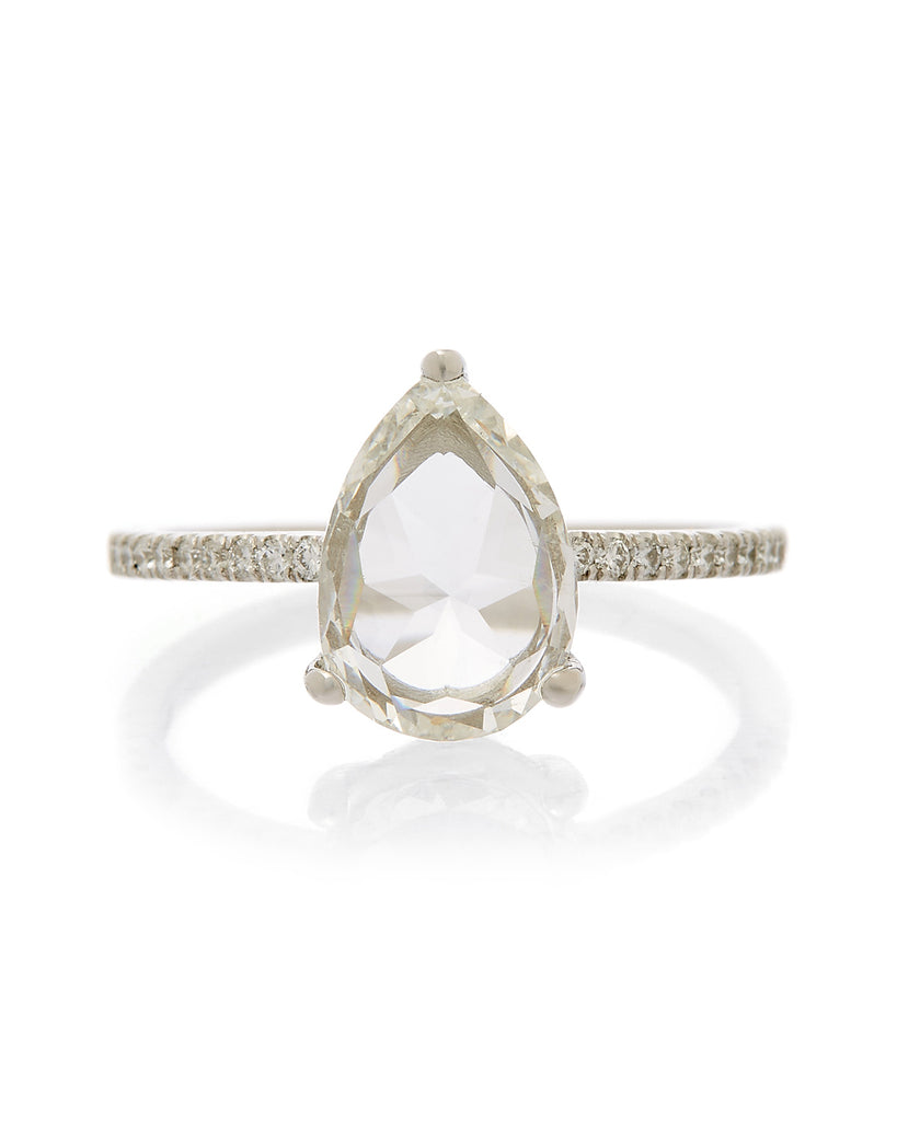 The Kaia Ring Setting (Pear Rose Cut)
