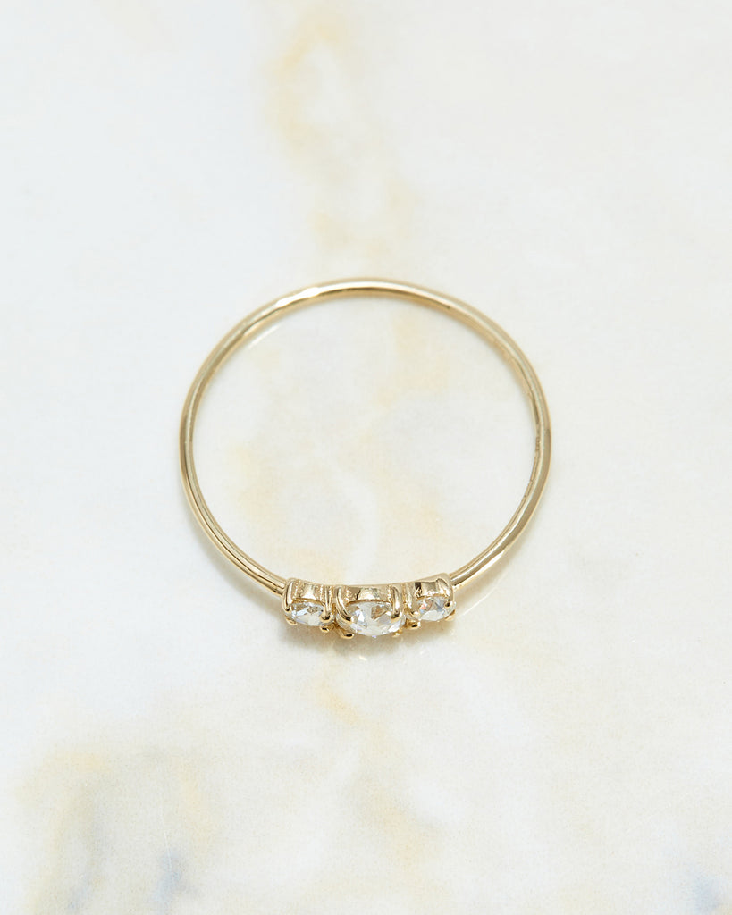 The Triple Rose Cut Ring