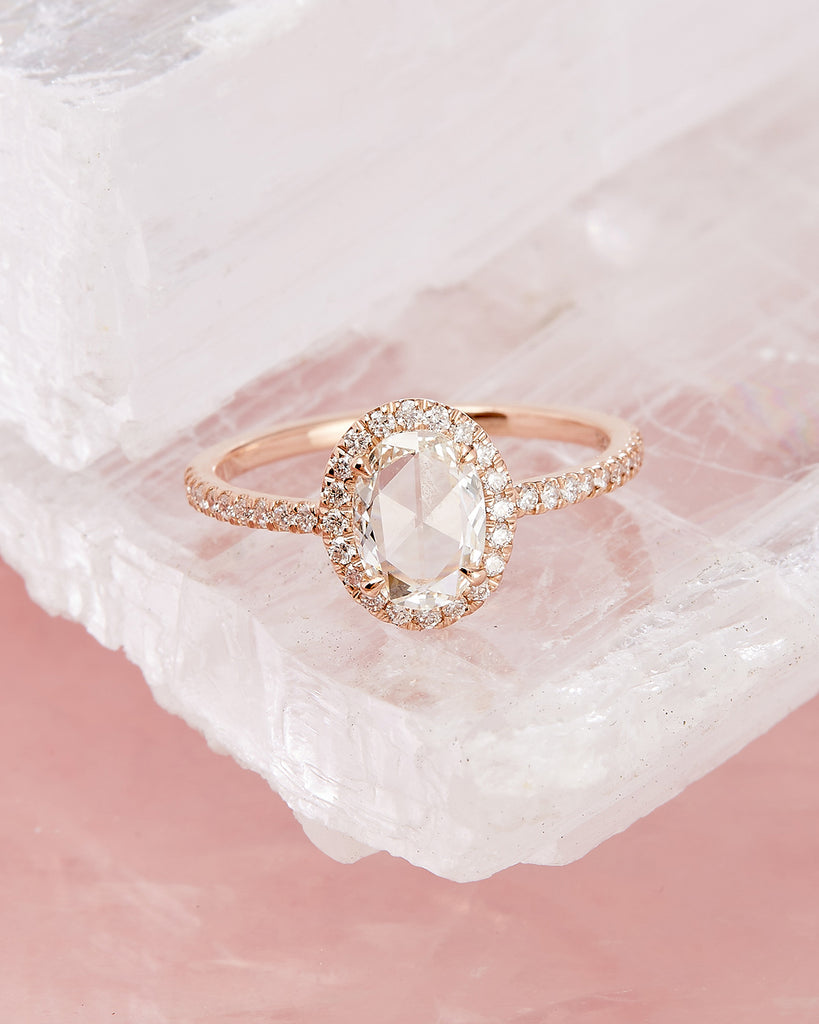 The Valentina Ring Setting (Oval Rose Cut)