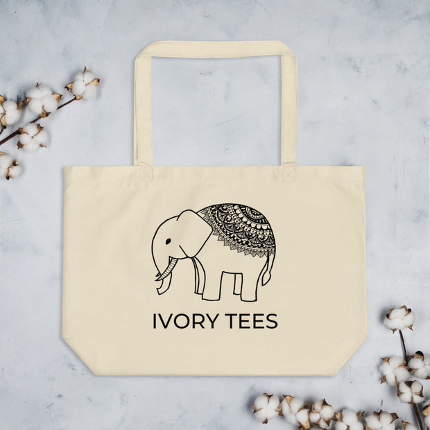 Large Organic Elephant Tote bag