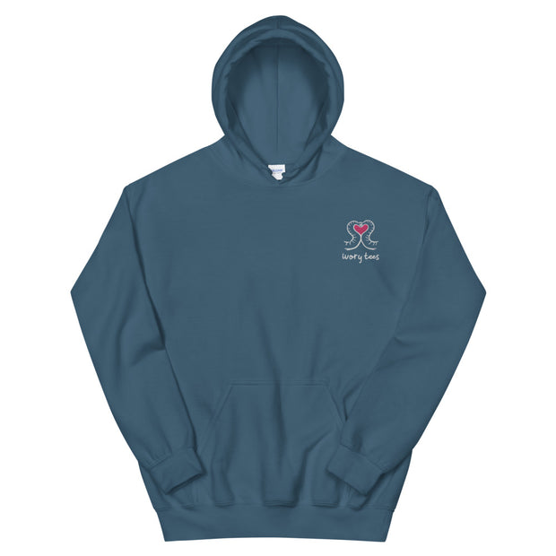 Embroidered LOVE Hoodie (Unisex)