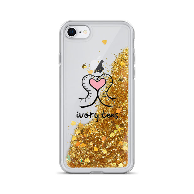 Liquid Glitter LOVE iPhone Case (7/8, X/XS, XR)