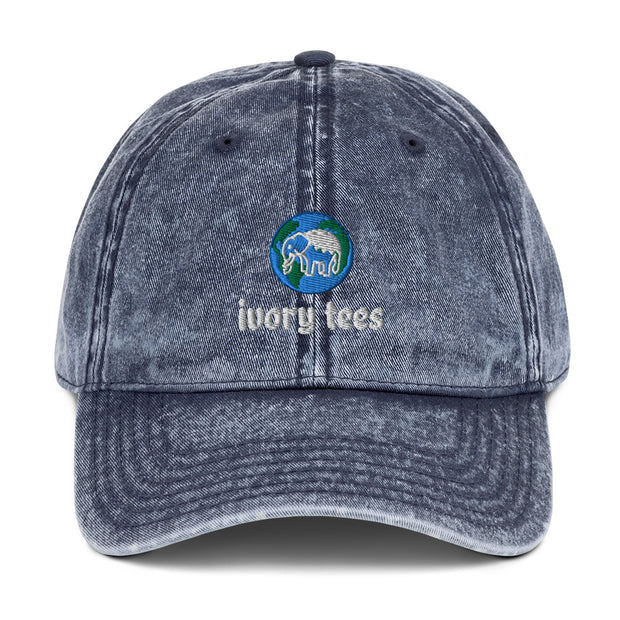 Embroidered EARTH Vintage Cotton Twill Cap