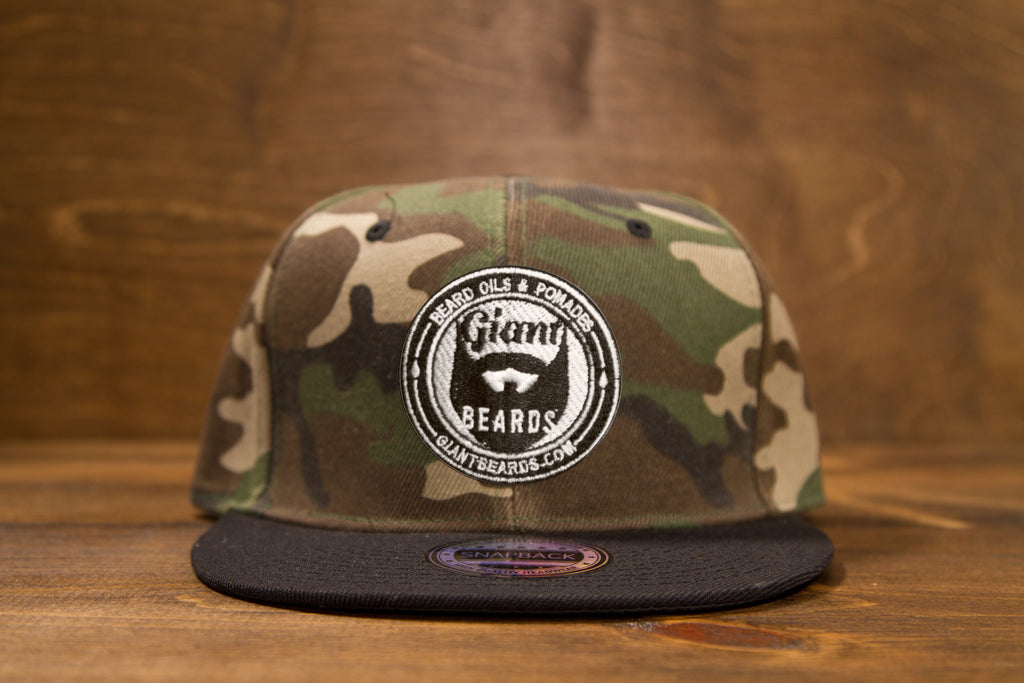 Giant Beards Snap Back Hat - Camo