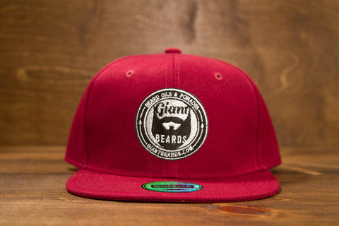 Giant Beards Snap Back Hat - Burgundy