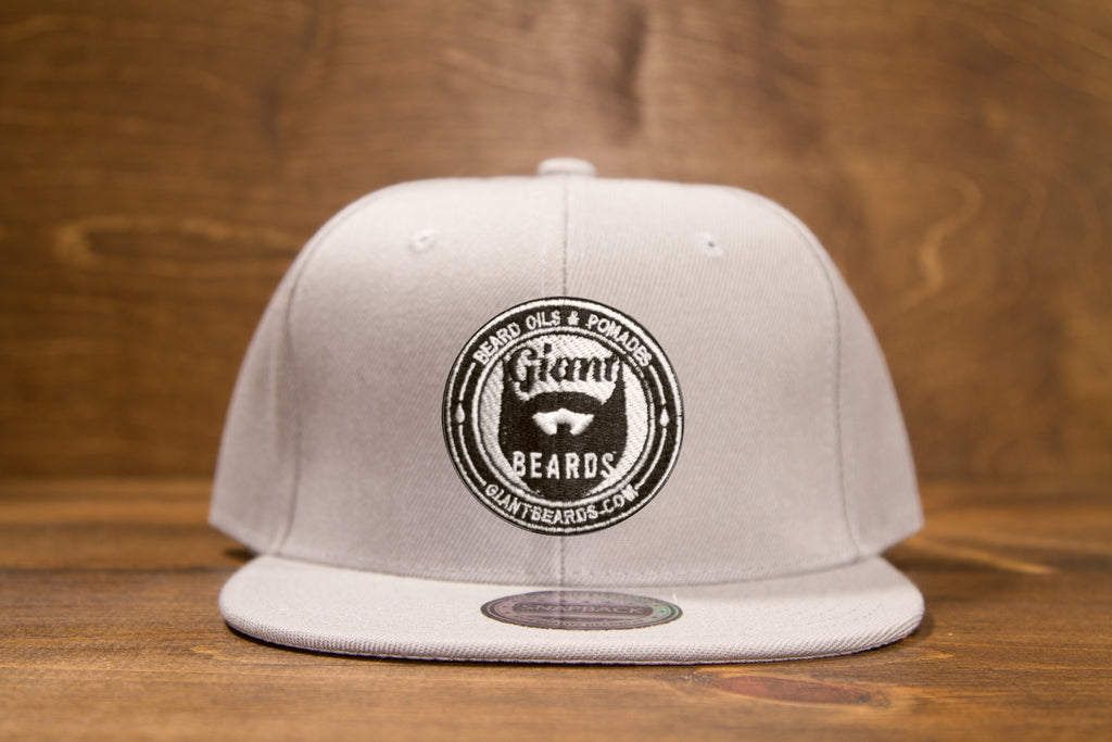 Giant Beards Snap Back Hat - Gray