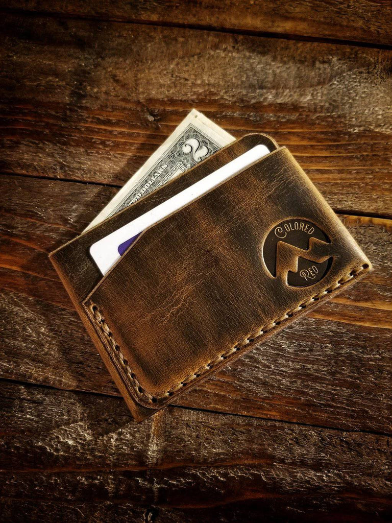 Minimalist Wallets- 4 leather colors,15 thread colors - Farmhouse Tupelo