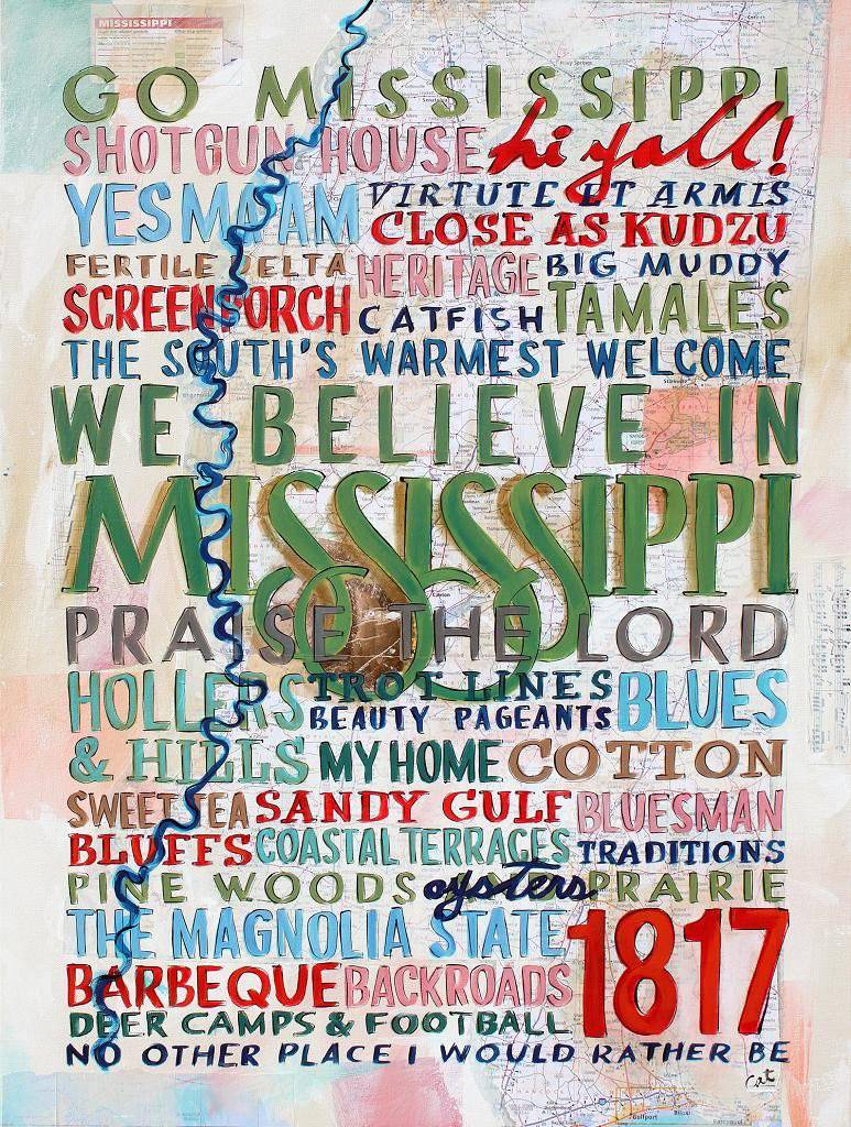 Celebrate Mississippi Print 18x24 - Farmhouse Tupelo
