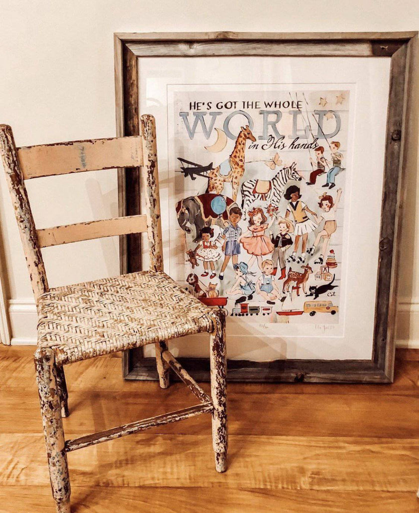 He's Got The Whole World In His Hands Print - Farmhouse Tupelo