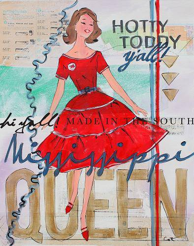 Mississippi Queen Print (She has Character, Hotty Toddy Y'all, She was a Mess) - Farmhouse Tupelo