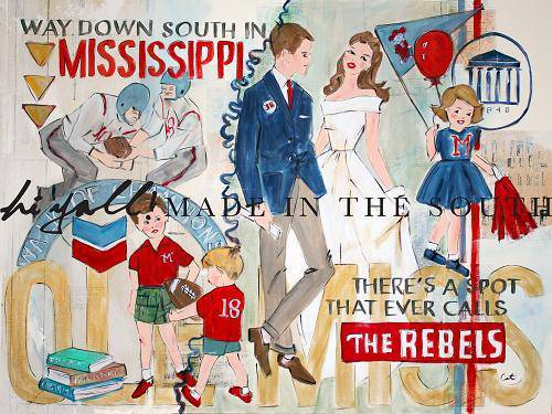 Ole Miss/University of Mississippi/Way Down in Mississippi/Rebels - Farmhouse Tupelo