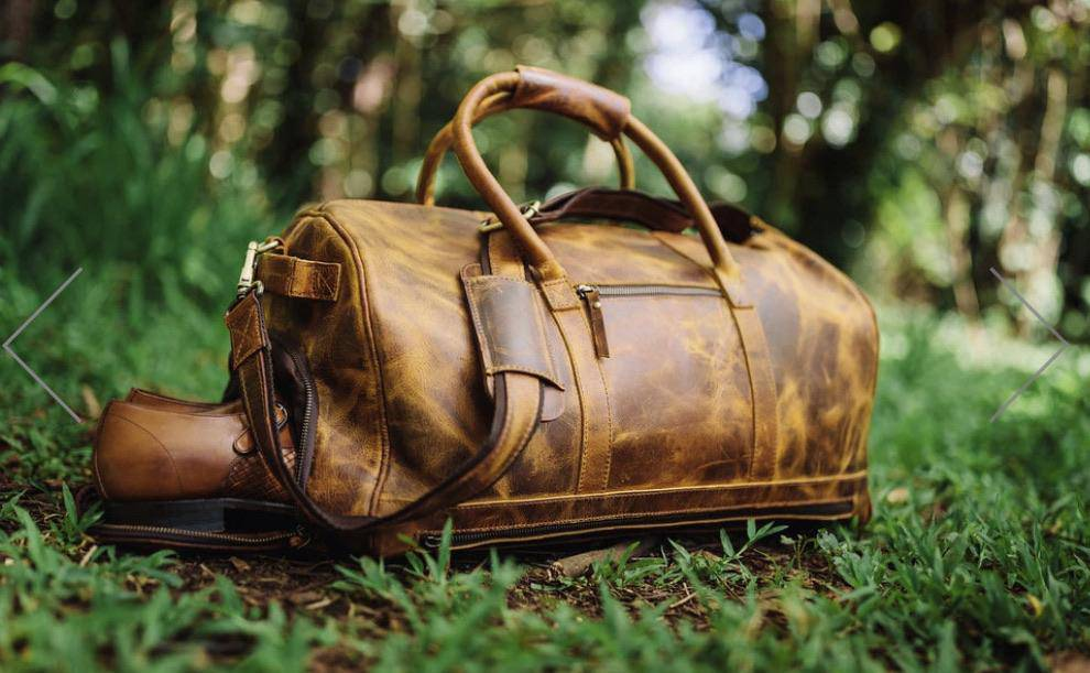 Leather 45L Denali Duffel Bag - Farmhouse Tupelo