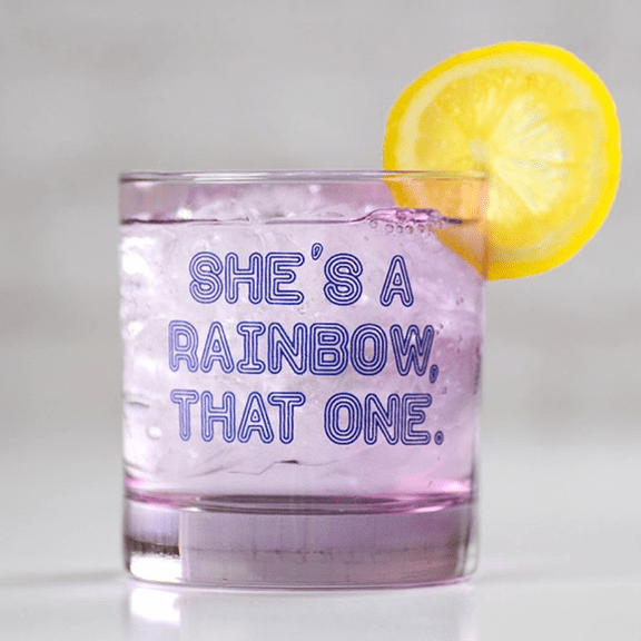 COCKTAIL GLASS - She's A rainbow that one. - Farmhouse Tupelo