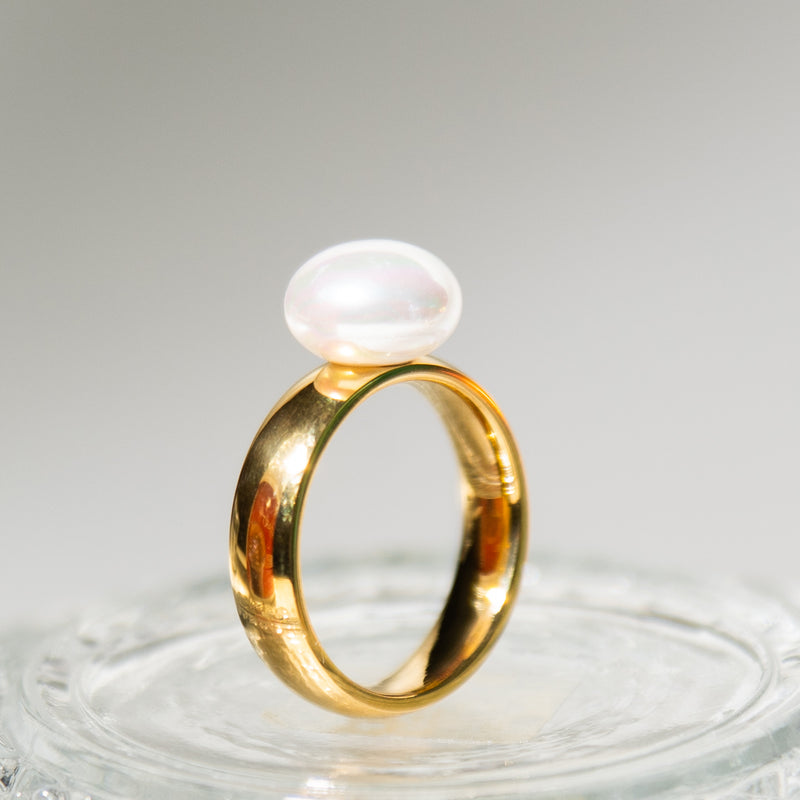 Marand Single Pearl Ring