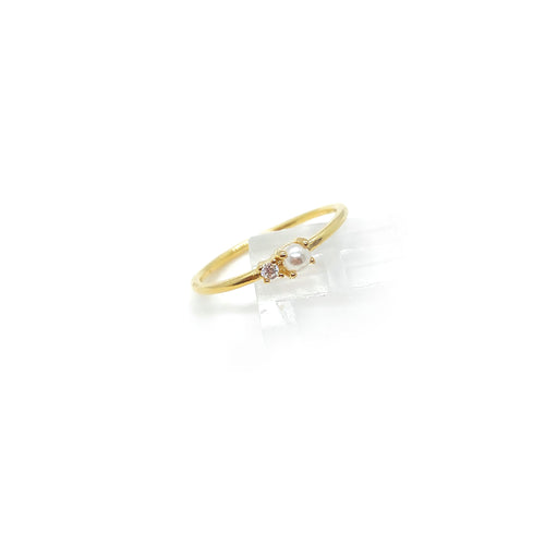 Single Lemm Pearl Ring