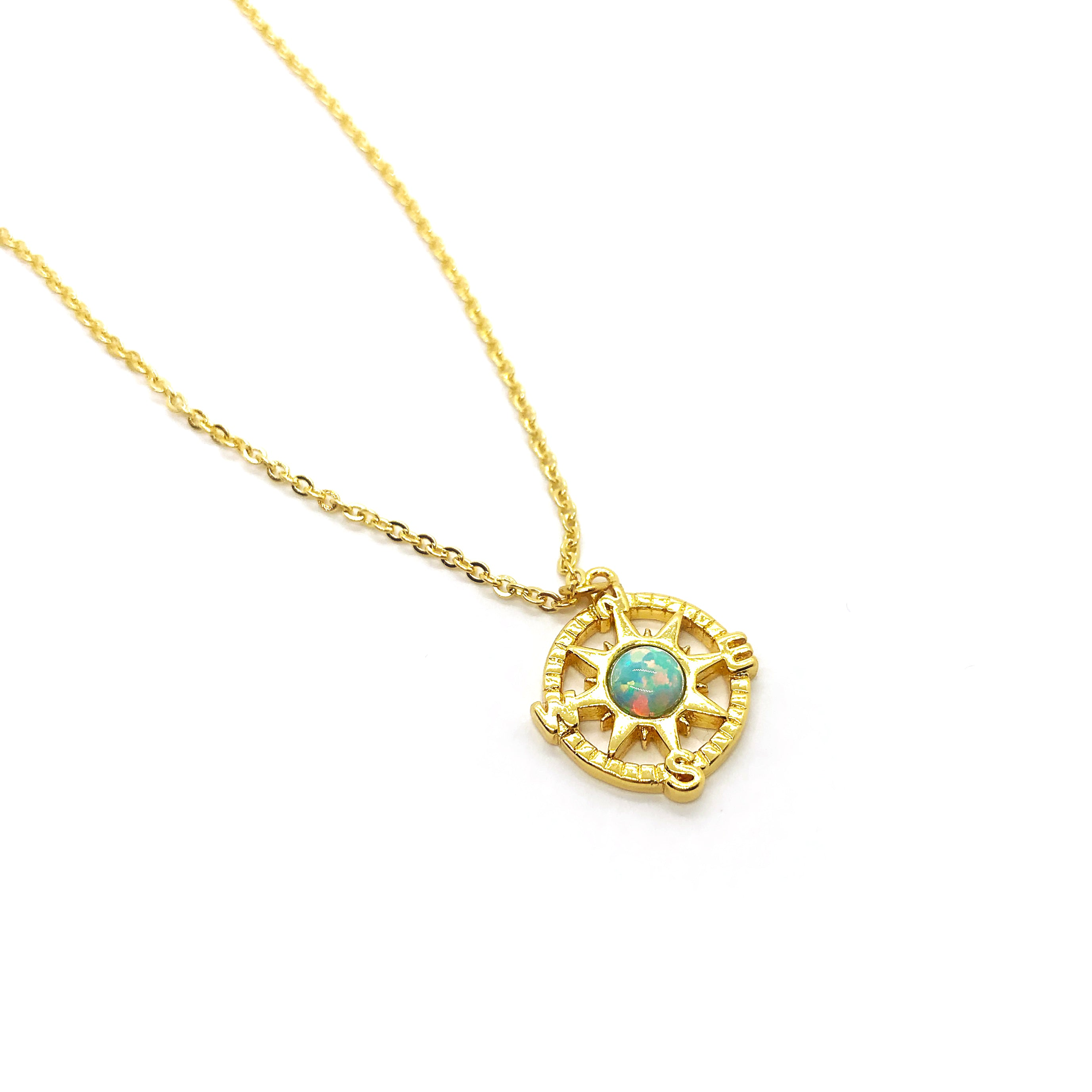 Opal Compass Necklace
