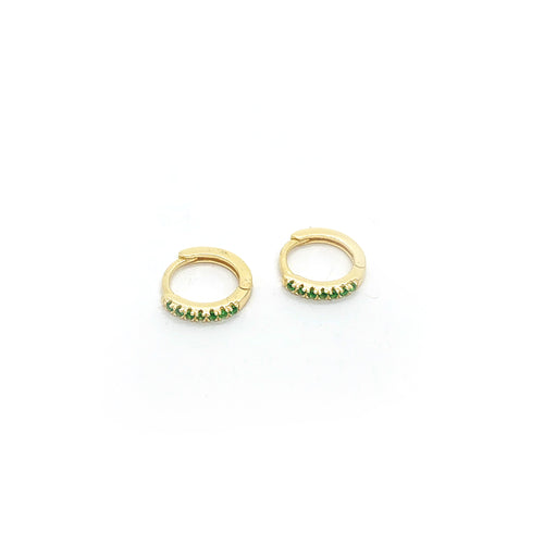 Kiana Green Petit Hoops