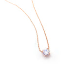Rose Single Crystal Necklace